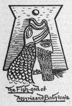 (drop cap A) The Fish-god of Assyria and Babylonia