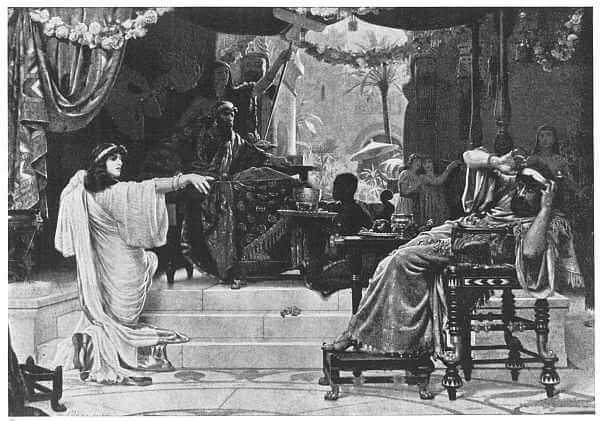 Esther Denouncing Haman Painted by Ernest Normand