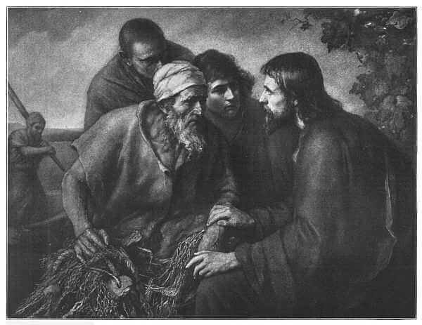 Christ and the Fishermen Painted by E. Zimmerman