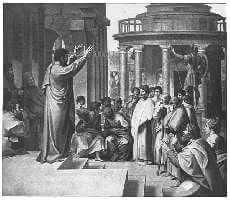 St. Paul Preaching at Athens Painted by Raphael